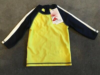 Nwt Marks & Spencer Toddler Rash Guard/swim Top Upf40 Size 2 - 3 Years