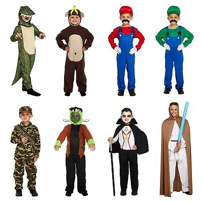 Boys World Book Day Fancy Dress Costume Book Character Outfits NEW