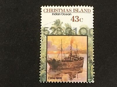 1991 Christmas Island Centenary Phosphate Mining Lease 43C Indian Ocean Stamp