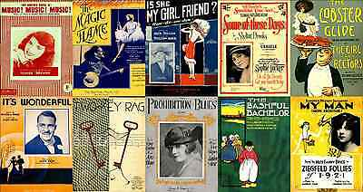 Print & Sell 300+ Beautiful 'Print Ready' Vintage Sheet Music Covers - FREE P&P