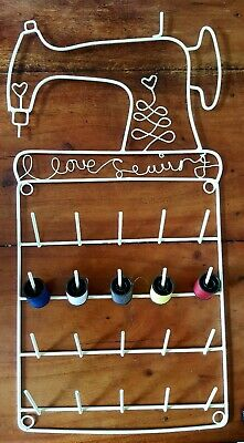 Large Sewing Spool Holder For 20 Cotton Threads Ribbon Wall Organiser Storage