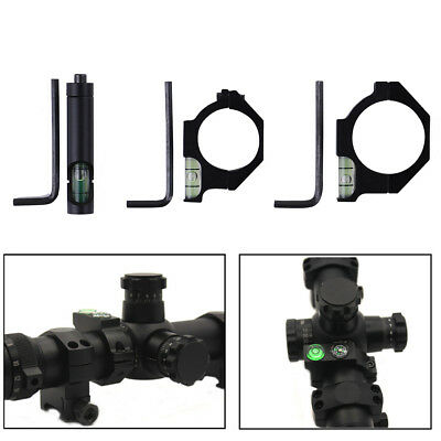 Metal anti cant level mount spirit bubble 30/25.4mm ring scope for rifle tuMAEK