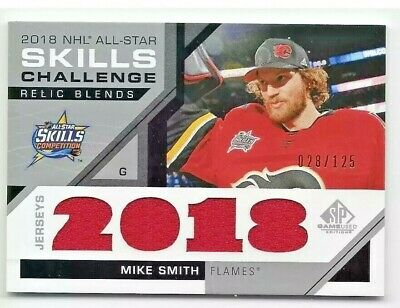 2018-19 SP Game Used ALL-STAR Skills Relics Jersey Mike Smith 28/125