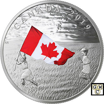 2019 'The Canadian Flag' Colorized Proof $20 Silver Coin 1oz .9999 Fine(18695)NT