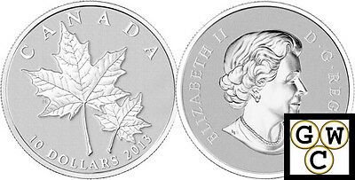 2013 'Maple Leaf' 1/2oz Specimen $10 Silver Coin .9999 Fine (13226)