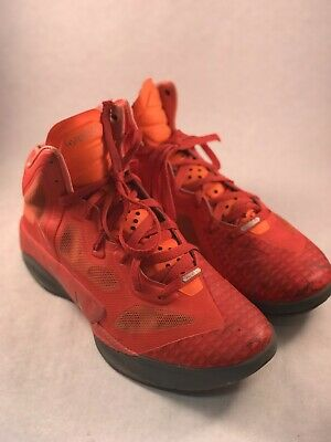 0f7f400ed95 Mens Nike Hyperfuse 2011 Team Orange Grey Basketball Shoes Size 11  469757-800