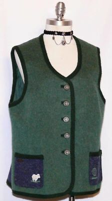 "WOOL & ALPACCA German VEST Walk Coat Jacket Women Winter WARM & SOFT / B42"" 12 M"