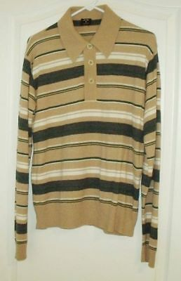 Men's Vintage Zachry Long Sleeve Knit 100% Acrylic Shirt Sz Large Made in Italy