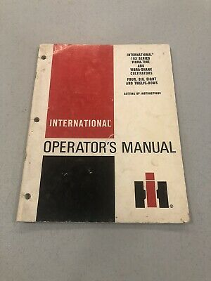 IH International 183 SERIES 4 6 8 & 12 Row CULTIVATORS OPERATORS MANUAL