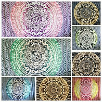 Large Indian Ombre Mandala Tapestry Hippie Wall Hanging Bedspread Blanket Throw