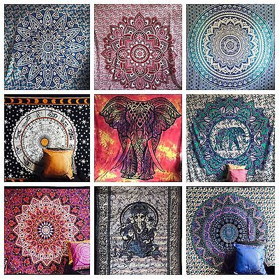 Mandala Tapestry Fabric Indian Throw Boho Wall Hanging Hippie Cover Bedspread