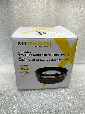 Xit Photo Pro Series 2.2x High Definition AF Telephoto Lens 58mm New in open box