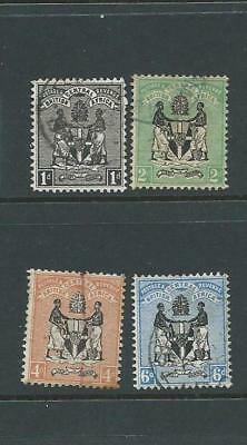 British Central Africa 1895 set to 6d G/FU
