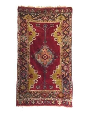Antique Anatolian Village Rug Teppich Traditional Tappeto 190cm x 106cm TK130