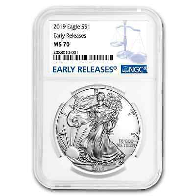 2019 Silver American Eagle MS-70 NGC (Early Releases) - SKU#172564