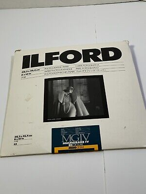 Ilford Multigrade IV RC Deluxe Satin Photographic Paper Resin Coated 13 Count!