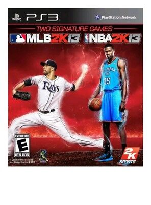 2K Sports Combo Pack MLB 2K 13 NBA 2K 13 PS3 Brand New Factory Sealed
