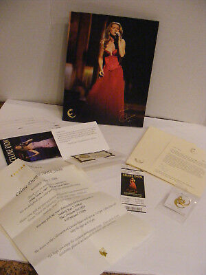 CELINE DION 500th Performance May 7 2006 Letter Ticket PIN A New Day Memorabilia