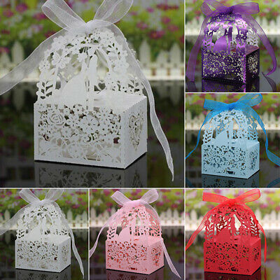 Hollow Candy Box Boxes Gift Wedding Favors With Ribbons 6*4*3.5cm Party Newest