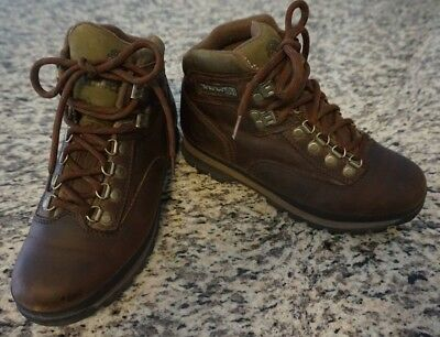 205064fcda6 TIMBERLAND WOMEN'S BROWN Leather Euro Hiker Hiking Trail Boots Size ...