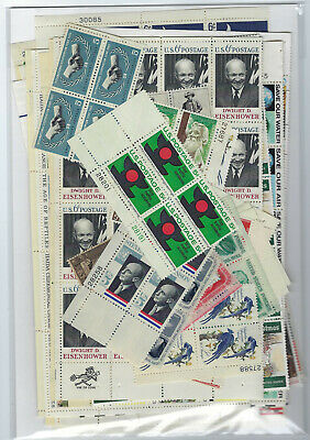 Us $40.00 Face Mint/nh Postage Lot Of Mostly 6¢ -8¢ Value Folded Sheets