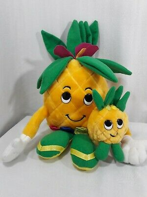 DOLE Piney Pals Pineapple Plush Stuffed Doll Toy Blossom & BamBoo Baby 1992 CUTE