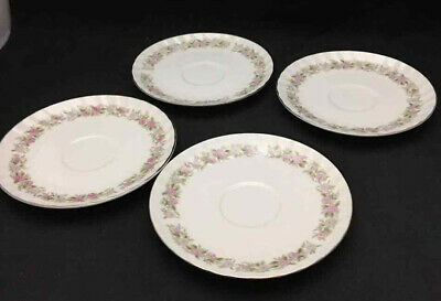 Teahouse Rose Saucers (set of 4) by Danisco China - Vintage China