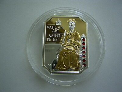 COOK ISLANDS - 5 Dollars 2010 ** SAINT PETER VATIKAN ART  ** Silber Swarovski