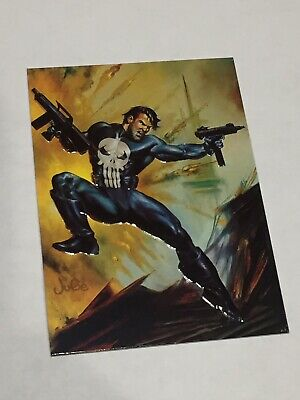 1996 Marvel Masterpieces DOUBLE IMPACT #2 PSYLOCKE PUNISHER MINT