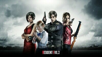 Game Resident evil 2 2019 Ada Leon Kennedy Claire 24 X 14 inch Silk Poster