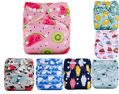 Baby Cloth Diapers One Size Reusable Pocket Nappy For Newborn baby+ 1 Insert