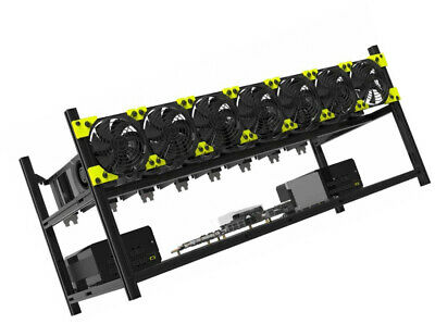 Veddha Professional 8 GPU Miner Case Aluminum Stackable Mining Case Rig Open to