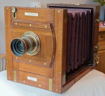 Lancaster 19Th Century 'Improved Special 86' Mahogany Tailboard Camera With Orig