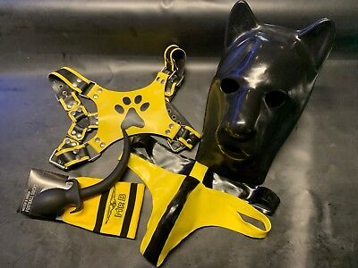 Dogtail Plug für Dogplay Puppy  Folsom in S-M Fetish Rubber Latex