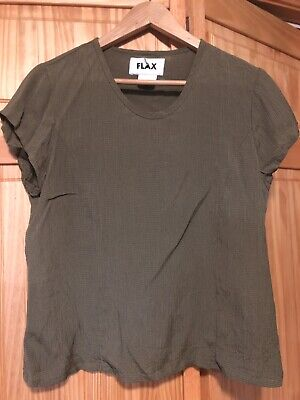 Habitat Clothes To Live In Womens Top Gray Black Shirt Blouse Sz M