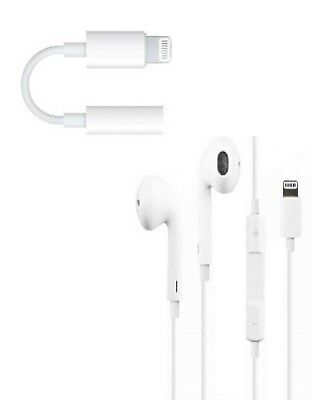 GENUINE LIGHTNING HEADPHONES EAR PODS FOR IPHONE 7 / 8+ / X / XS MAX XR 11 Pro