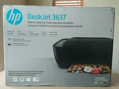 HP DeskJet 3637/3634 Wireless Color Inkjet All-In-One Printer, Scanner, Copier
