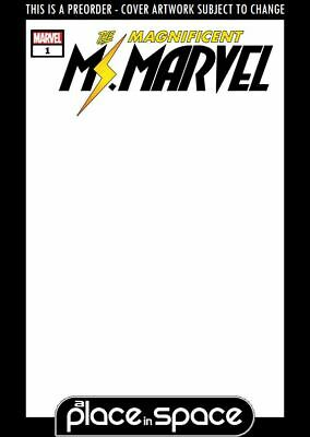 (Wk11) Magnificent Ms Marvel #1B - Blank Variant - Preorder 13Th Mar
