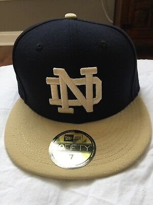 e0e7b49573c NEW ERA 59FIFTY Notre Dame Fighting Irish Fitted Hat Navy Gold Size ...