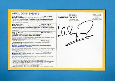 Wole Soyinka (Nobel Prize Literature 1986)Signed 2006 Carnegie Council Post Card