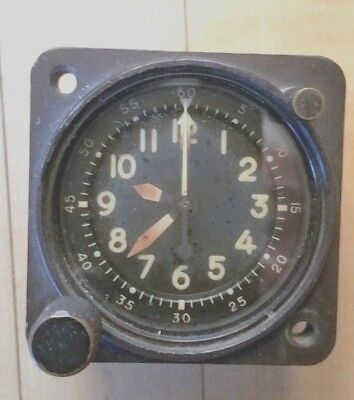 Vintage Waltham A13A Military Aircraft Clock 20 Jewel Usaf Dash Clock