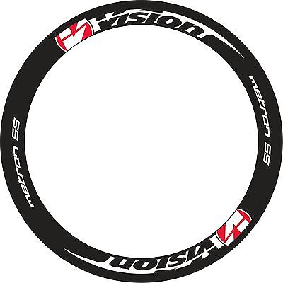VISION METRON 40 RIM DECALS SET FOR TWO WHEELS RED