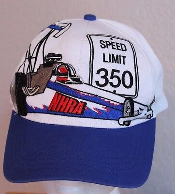 NHRA Ball Cap Size YOUTH Trucker Hat Snap Back Speed Limit 350 Polyester  Cotton e1793b12e006