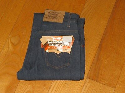 Levi's Saddleman Boot Jeans Orange Tab Students 26x33 Deadstock Rare Vintage