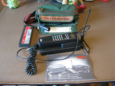 OKI 1200 Cellular Mobile Telephone with Battery Manual Carrying Pack 1993 WORKS