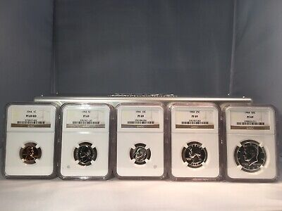 1964 US Mint Complete 5 Coin Silver Proof Set PF69 NGC