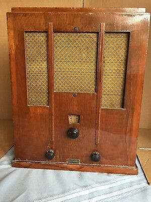Packard Antique Wood Tube Radio 1930's WORKS