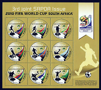 Malawi 2010 SAPOA / Fifa World Cup Mini-Sheet, MNH