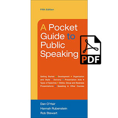 A Pocket Guide to Public Speaking 5th Edition 'eb00k'