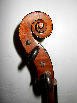 "Old Antique Vintage ""Bergonzi"" 2 Pc. Back Full Size Violin - NR"